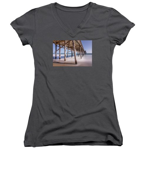 Balboa Pier Women's V-Neck T-Shirt