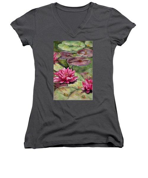 Balboa Water Lilies Women's V-Neck T-Shirt