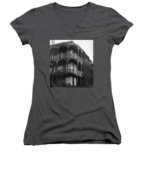 Balcony In The Sun Women's V-Neck (Athletic Fit)