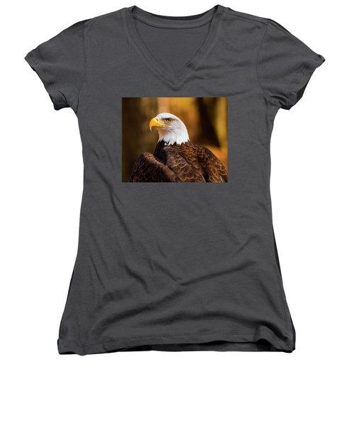 Bald Eagle 2 Women's V-Neck
