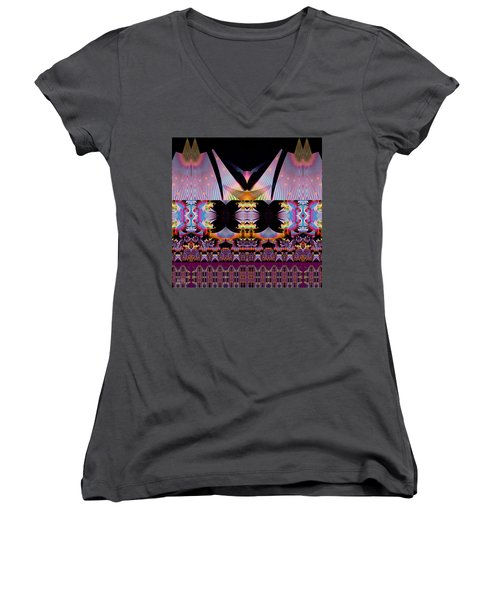 Bali Hai Women's V-Neck T-Shirt (Junior Cut) by Jim Pavelle