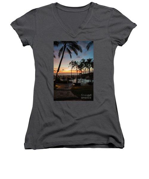 Bali Sunset Women's V-Neck T-Shirt