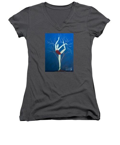 Ballerina Tree Women's V-Neck T-Shirt