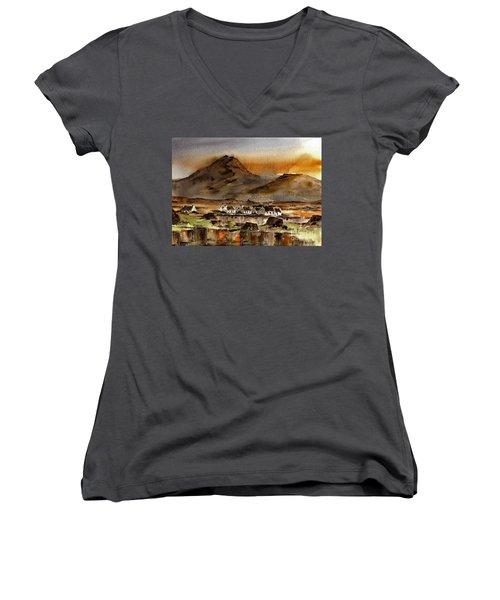 Ballinakill Bog, Connemara Women's V-Neck T-Shirt