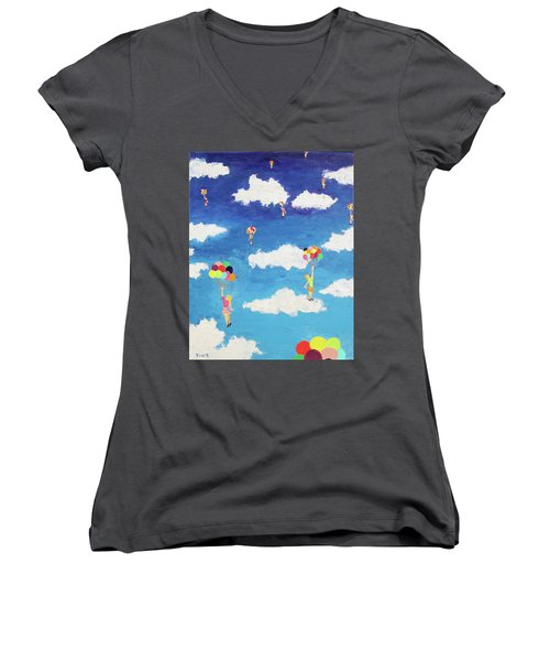 Balloon Girls Women's V-Neck (Athletic Fit)