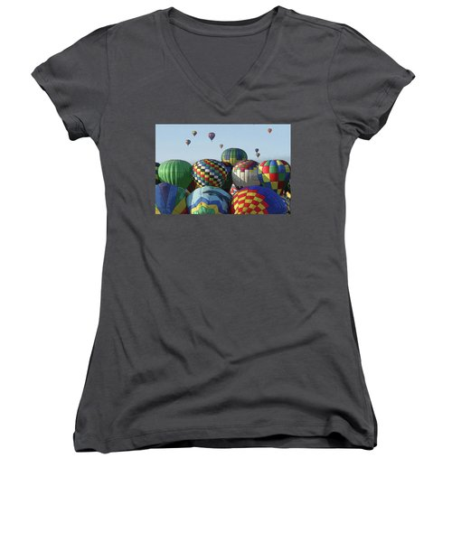 Balloon Traffic Jam Women's V-Neck (Athletic Fit)