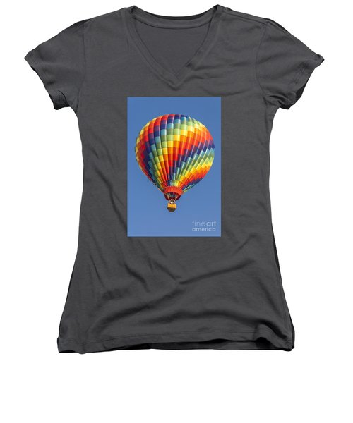 Ballooning In Color Women's V-Neck T-Shirt (Junior Cut) by Anthony Sacco