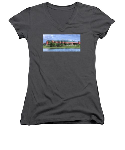 Ballpark In Arlington Now Globe Life Park Women's V-Neck (Athletic Fit)
