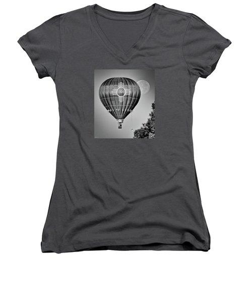 Ballunar Eclipse Women's V-Neck T-Shirt