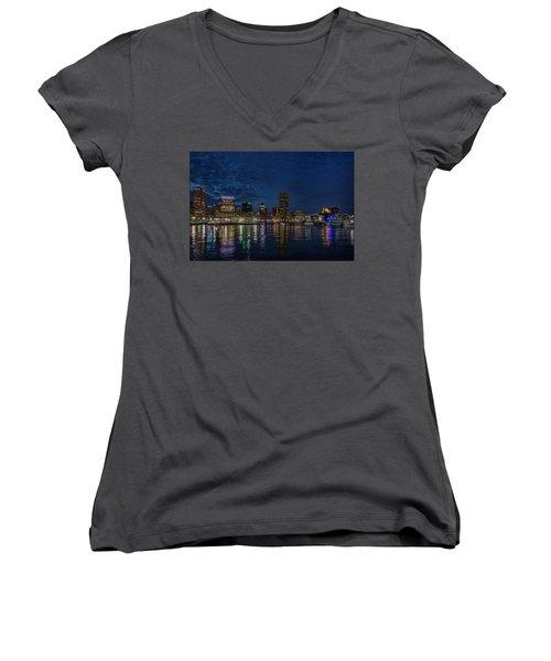 Baltimore Harbor Women's V-Neck T-Shirt