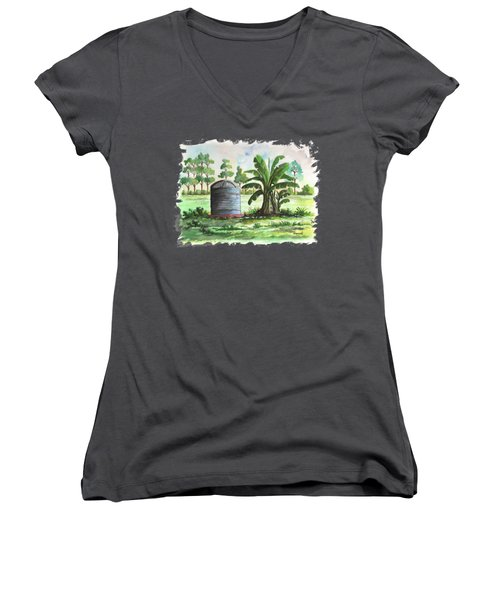 Banana And Tank Women's V-Neck (Athletic Fit)
