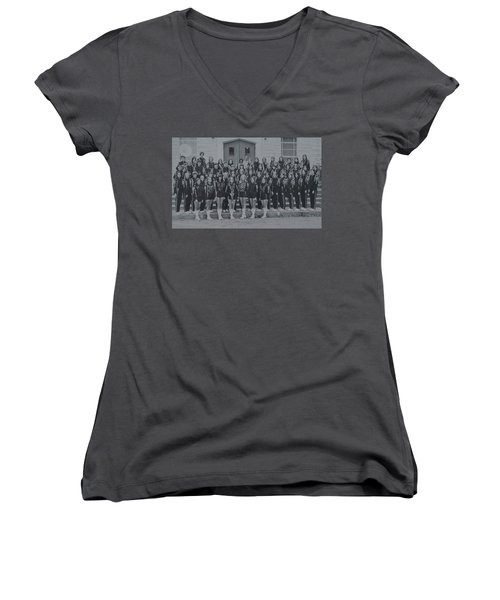 Band After Fire 76 Women's V-Neck (Athletic Fit)