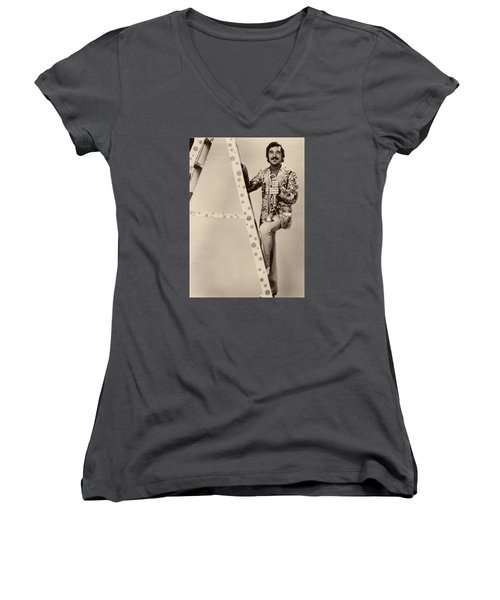 Band Leader Doc Serverinsen 1974 Women's V-Neck T-Shirt (Junior Cut) by Mountain Dreams