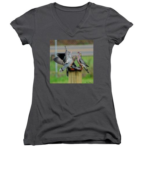 Band-tailed Pigeons #1 Women's V-Neck