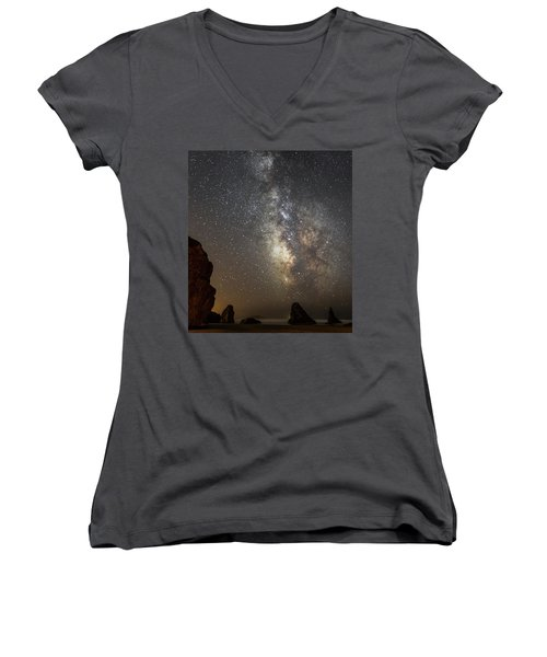Bandon And Milky Way Women's V-Neck (Athletic Fit)