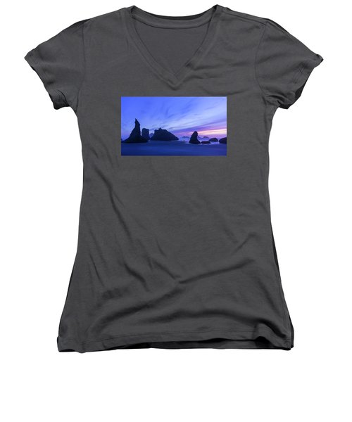 Bandon Blue Hour Women's V-Neck