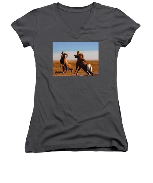 Bang Of The Bighorn Women's V-Neck