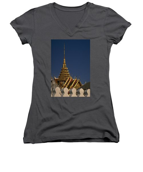 Bangkok Grand Palace Women's V-Neck (Athletic Fit)