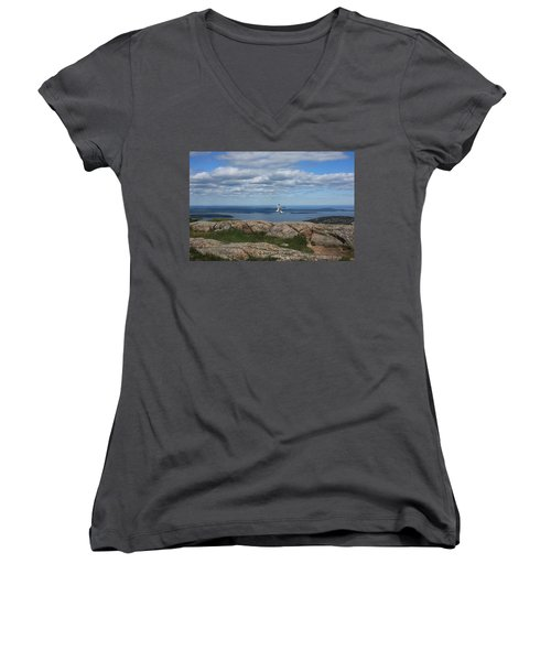 Bar Harbor View From Cadillac Women's V-Neck T-Shirt