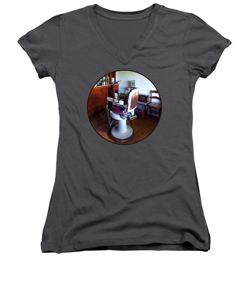 Barber - Old-fashioned Barber Chair Women's V-Neck