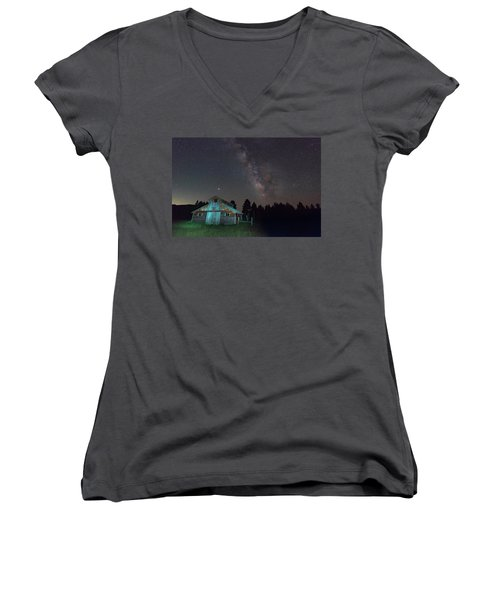 Barn In Rocky Women's V-Neck