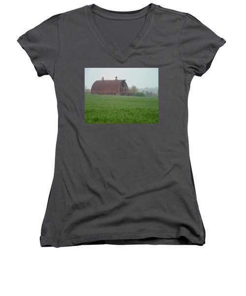 Barn In Summer Women's V-Neck