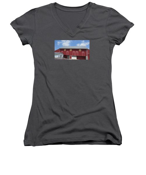 Barn With Hex Signs Women's V-Neck (Athletic Fit)
