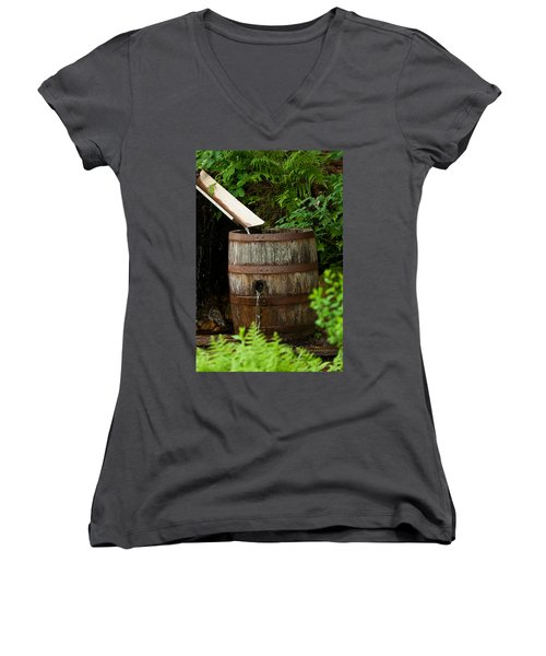 Barrel Of Water Women's V-Neck (Athletic Fit)