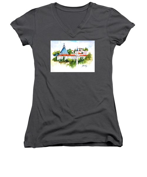 Basilica Of Annunciation, Nazareth Women's V-Neck T-Shirt