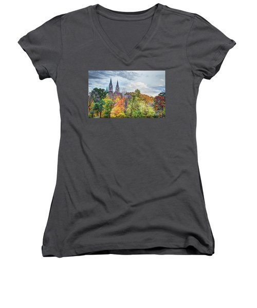 Basilica Of Holy Hill National Shrine Of Mary Women's V-Neck (Athletic Fit)