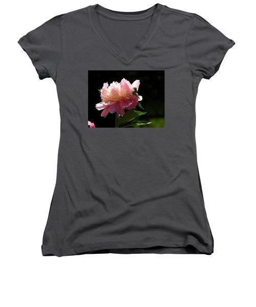 Basking In The Sun Women's V-Neck T-Shirt (Junior Cut) by Betty-Anne McDonald