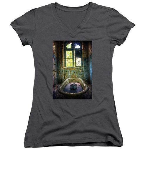 Women's V-Neck T-Shirt (Junior Cut) featuring the digital art Bath Toy by Nathan Wright