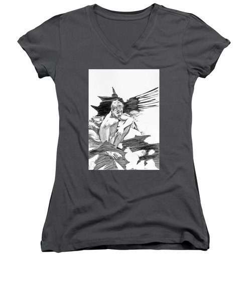 Bathed In White Light Women's V-Neck (Athletic Fit)