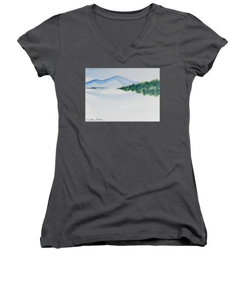 Bathurst Harbour Reflections Women's V-Neck