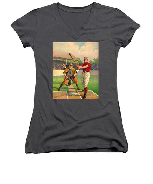 Batter Up 1895 Women's V-Neck T-Shirt