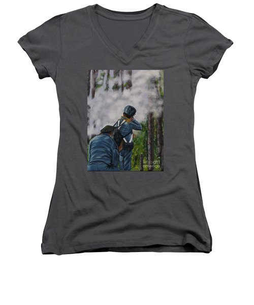 Battle Of Fort Dade Women's V-Neck T-Shirt
