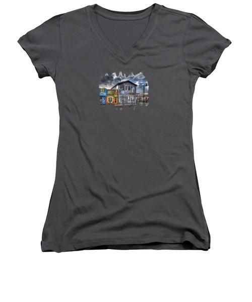 Bay Street Morning Women's V-Neck T-Shirt