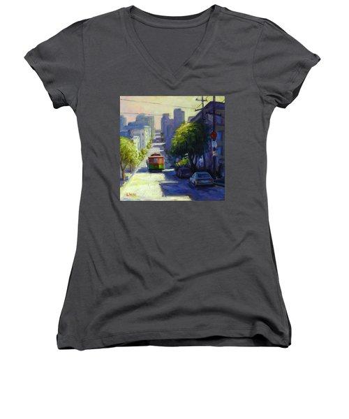 Bay Street San Francisco Women's V-Neck T-Shirt