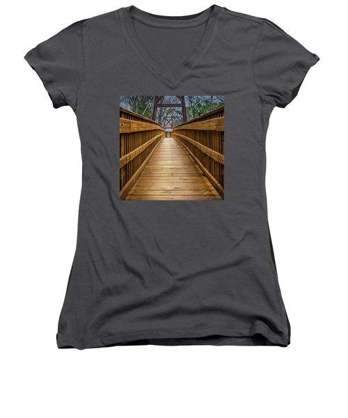 Bayou Foot Bridge Women's V-Neck