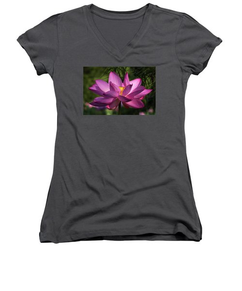 Be Like The Lotus Women's V-Neck (Athletic Fit)