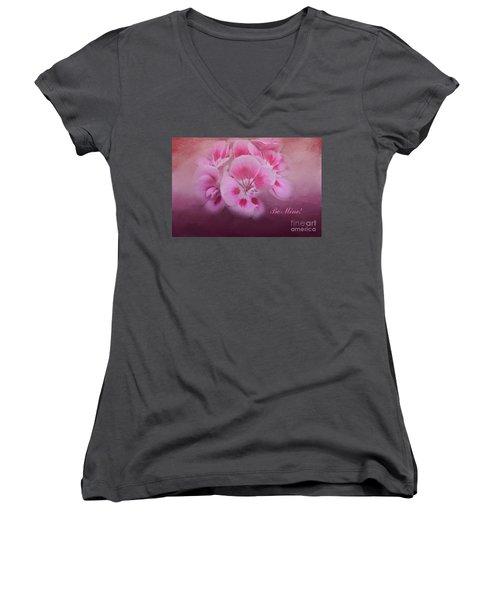 Be Mine Women's V-Neck T-Shirt