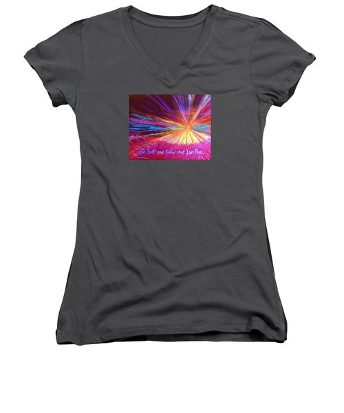 Be Still Women's V-Neck (Athletic Fit)