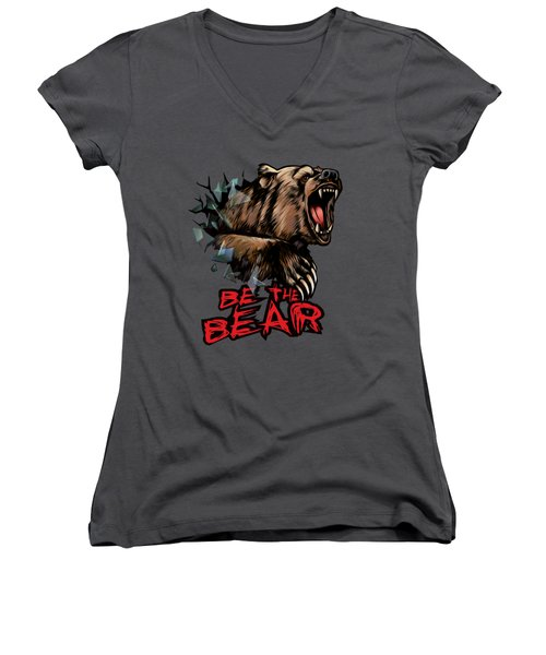 Be The Bear Women's V-Neck T-Shirt