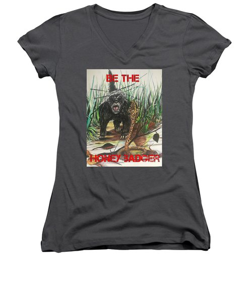 Be The Honey Badger Women's V-Neck (Athletic Fit)