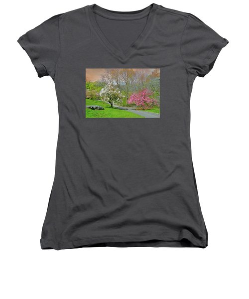 Women's V-Neck T-Shirt (Junior Cut) featuring the photograph Be True To Yourself by Diana Angstadt