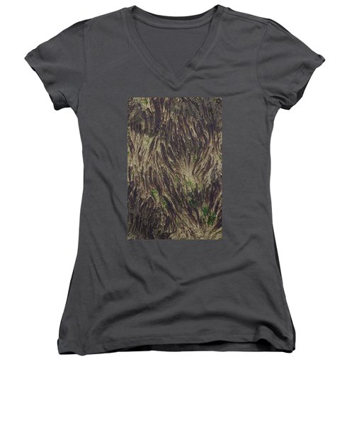 Beach Abstract 21 Women's V-Neck (Athletic Fit)