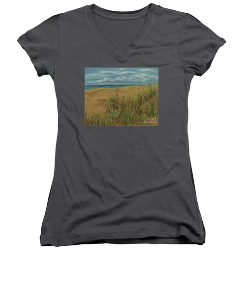 Beach And Clouds Women's V-Neck T-Shirt