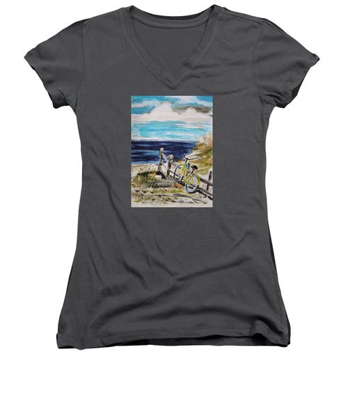 Beach Cruiser Women's V-Neck T-Shirt