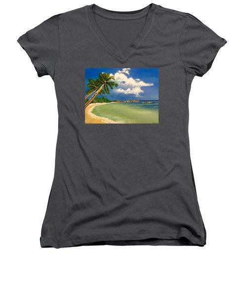 Beach Getaway Women's V-Neck T-Shirt