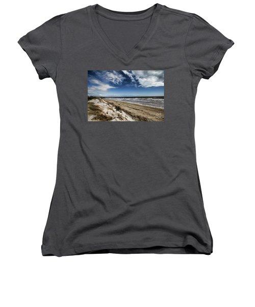 Beach Life Women's V-Neck T-Shirt (Junior Cut) by Douglas Barnard